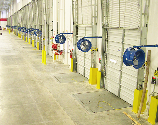 High Velocity Loading Dock Fans Industrial Dock Fans
