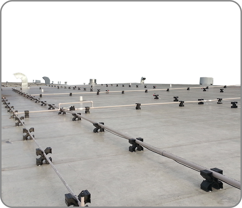 Evaporative roof cooling