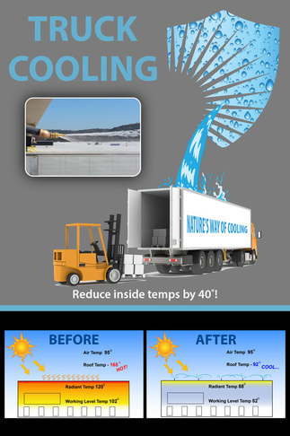 Solar Shield Truck Cooling