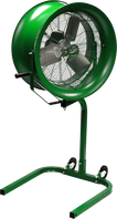 Green Portable Stroller High Velocity Fan